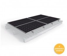 Pack de fixation sur toiture pour 1 ligne de 4 panneaux solaires verticaux