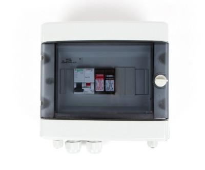 Boitier de protection et de coupure AC 230V - 16A - 30mA - 1E/1S