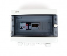 Boitier de protection et de coupure AC 230V - 16A - 30mA - 1E/1S - compteur d'énergie