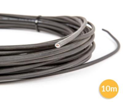 Câble 1 fil photovoltaÏque - 1x6mm² - noir - 10 mètres