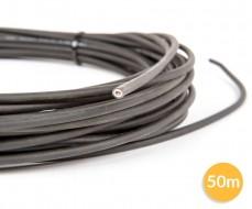 Câble 1 fil photovoltaÏque - 1x6mm² - noir - 50 mètres