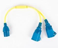 Adaptateur Victron  - 16A/250V - IEC60309 M / 2 x IEC60309 F