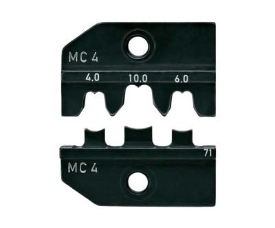 Profil de sertissage Knipex pour pince à sertir universelle - connecteur MC4 - 4/6/10 mm²