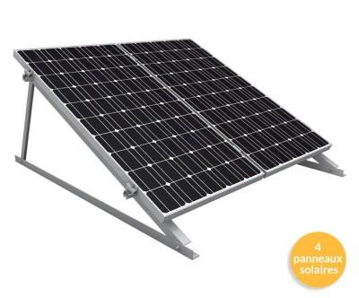 Pack de fixation K2 Systems Triangle pour 1 ligne de 4 panneaux solaires verticaux